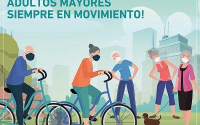 Queremos ver a nuestros adultos mayores ¡siempre activos y en movimiento!